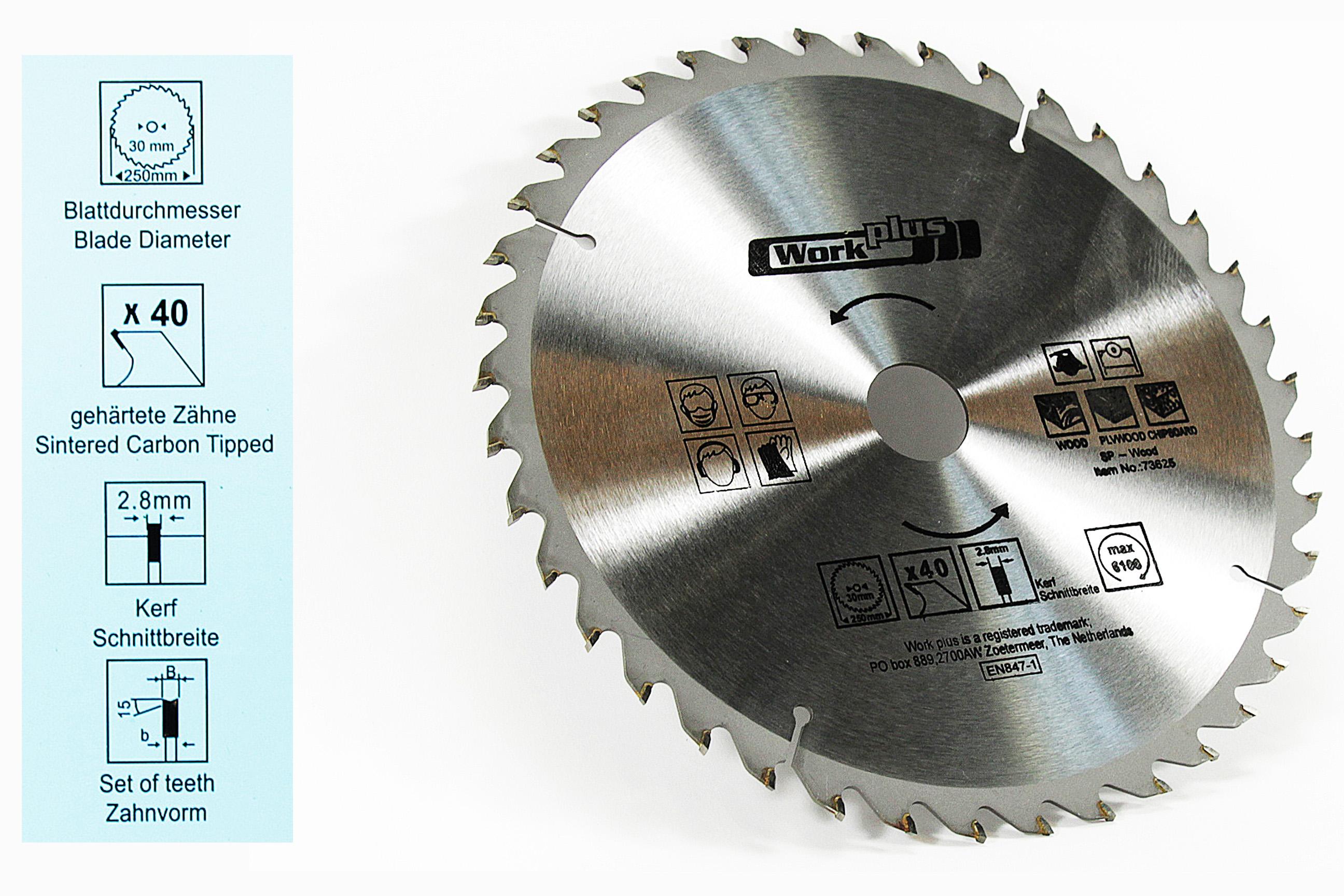 NEU HM Kreissägeblatt 24 Zähne für Holz Sägeblatt Säge Kreissäge Blatt 350 mm