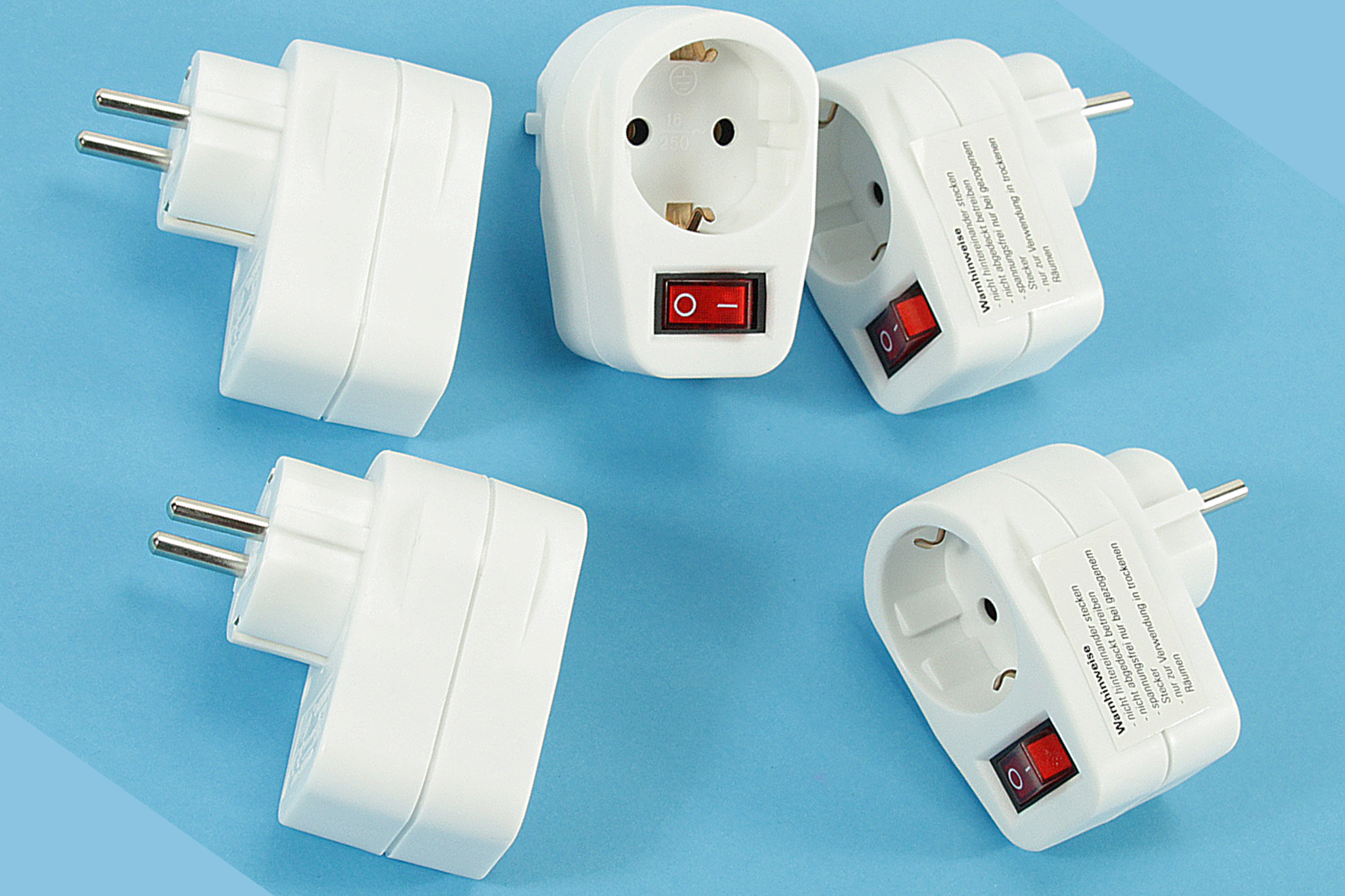 5x Steckdose mit beleuchtetem Schalter Stecker 16Amp NEU Energie ...