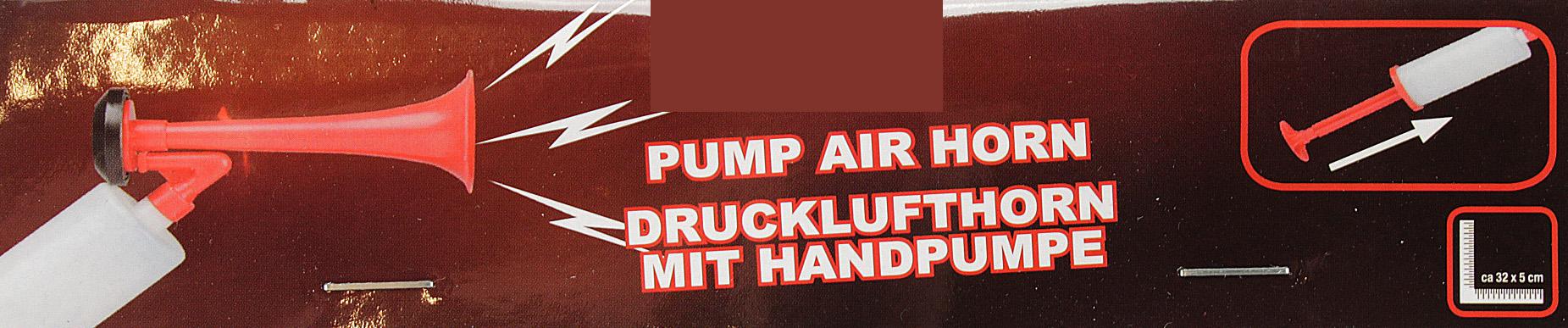Fanfare Drucklufthorn Fantröte Lufthorn KLEIN rot Signalhorn NEU Signal Horn Musik & Instrumente