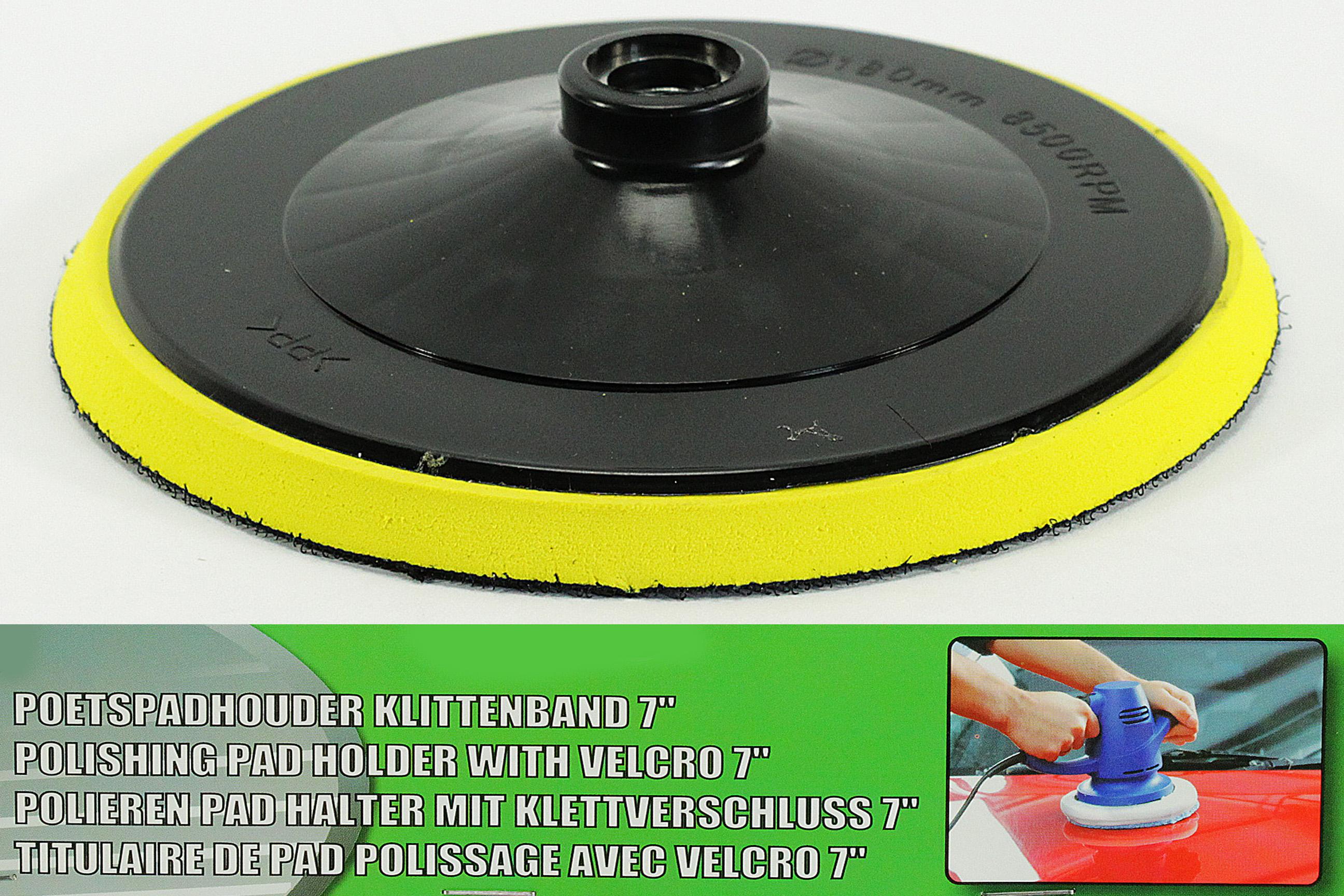 180 mm Polierpad NEU Schleifteller mit Klettverschluss Polierscheibe  ca