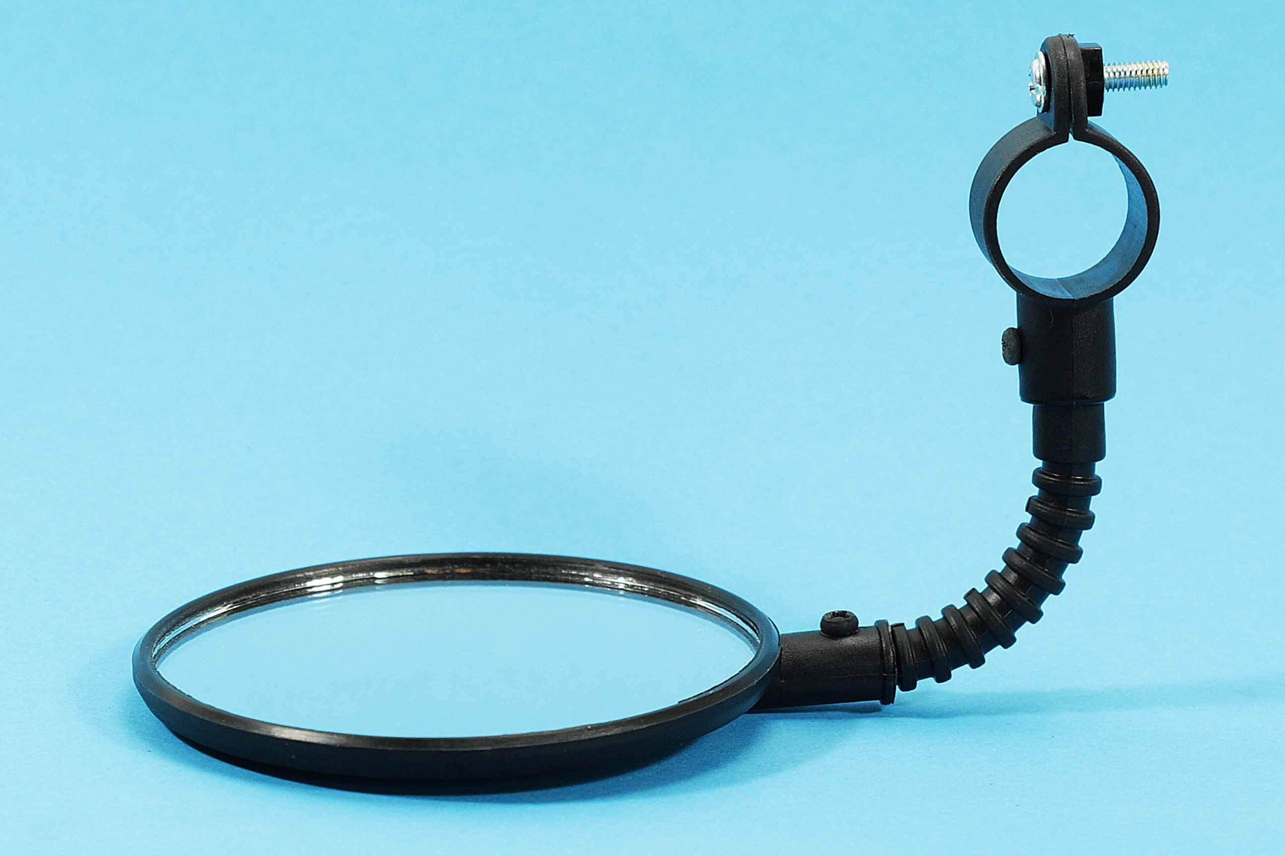 Fahrradspiegel mit Reflektor,Metall verchromt,Fahrrad Rück Strahler Spiegel,rund