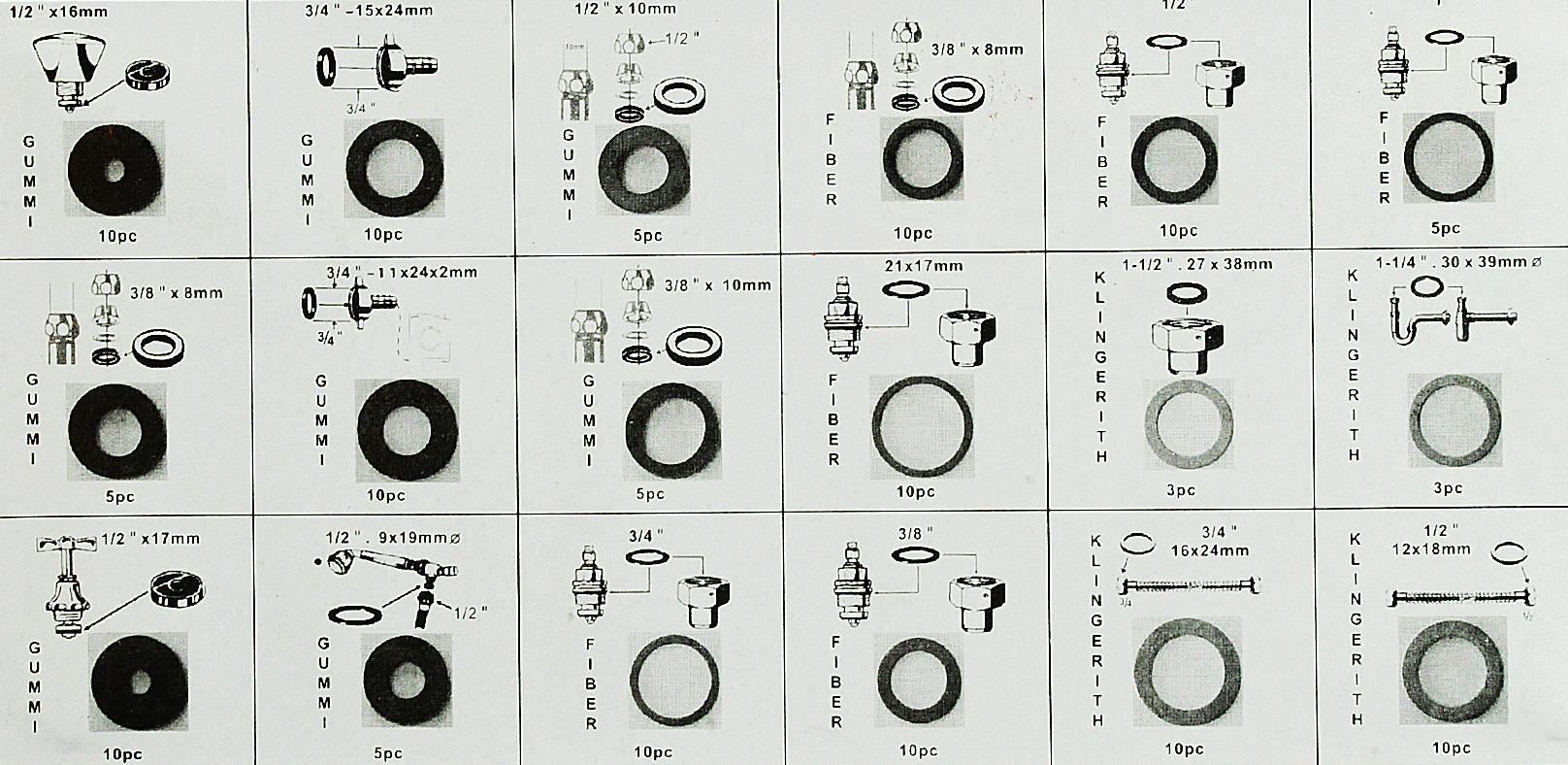 WOW Dichtring Dichtungen Gummidichtung 141-tlg Dose Dichtungsring Sanitär