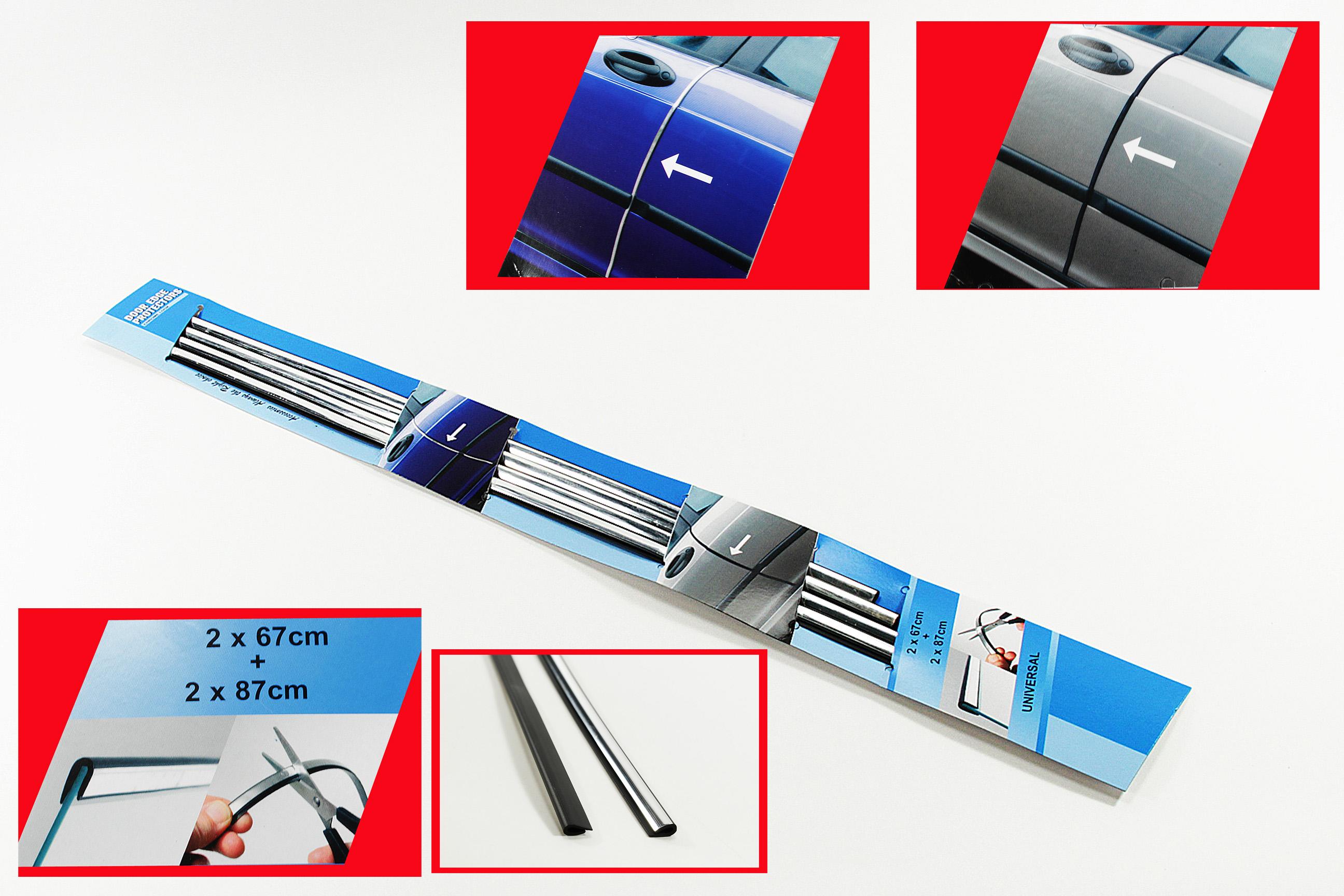 WOW 2x Auto Tür Kantenschutz  Auto-Türschutz blau 2  x  20 cm