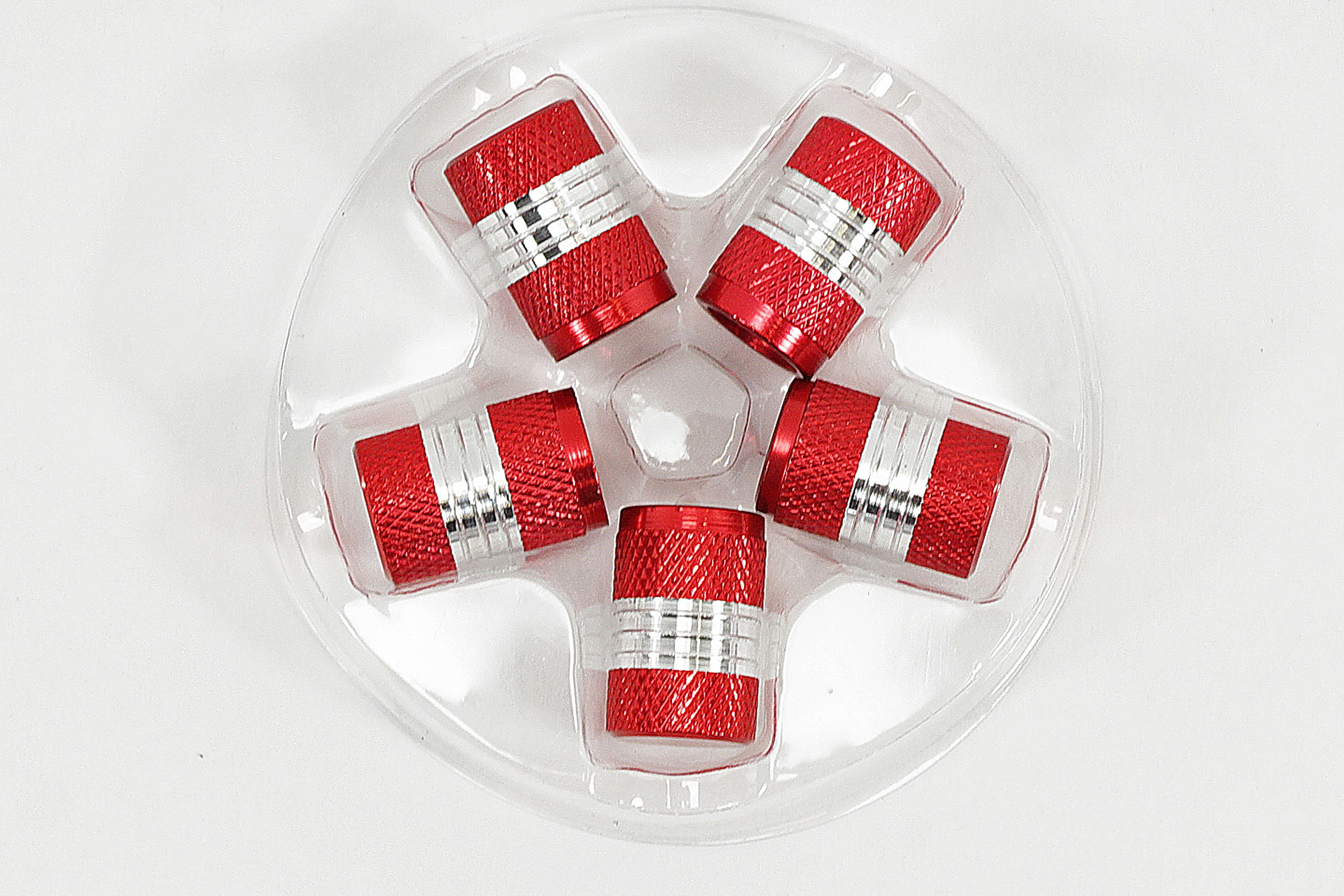 WOW Ventilverschlüsse PKW Ventil Kappen  silber Ventilkappen